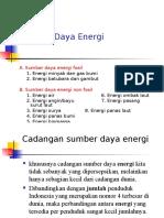 Sumber Daya Energi ppt