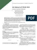 CISAK2016_ExtendedAbstract