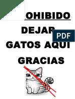 Prohibido Dejar Gatos Aqui