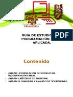 GUIA DE ESTUDIO PARA PROGRAMACIÓN LINEAL APLICADA.ppsx