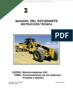 Manual Motoniveladora 24h Caterpillar Sistemas Motor Tren Potencia Sistema Hidraulico Direccion Frenos Ferreyros Cat