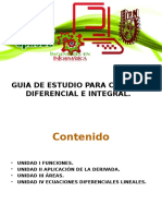 Guia de Estudio Para Cálculo Diferencial e Integral