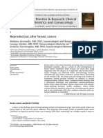 Reproduction After Breast Cancer 2010 Best Practice Research Clinical Obstetrics Gynaecology