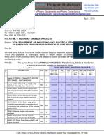Quotation CT PT Isolators AB Switches DO Fuse Set Horn Gap VCB SMC Boxes Deep Drawn Boxes
