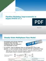 Improvements in Pipeline Modeling in HYSYS V7.3