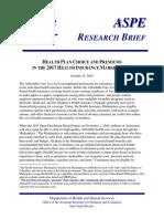 2017 ACA Marketplace Landscape Brief
