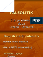 1. Paleolitik i Mezolitik u Hrvatskoj