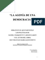 Debate Agonia Democracia