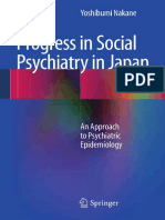 Progress in Social Psychiatry in Japan an Approach to Psychiatric Epidemiology
