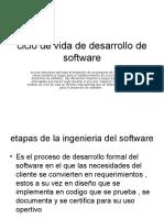 Ciclo de Vida de Desarrollo de Software