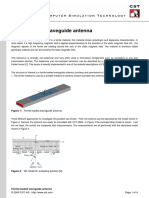 Ferrite-loaded Waveguide Antenna