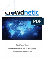 Crowdnetic CrowdWatch Oct 16 Reporton Title II Investment Crowdfunding