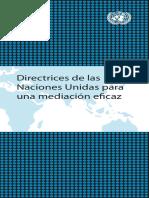 Directrices Naciones Unidas Para Mediacion Eficaz