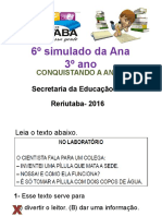 6º Simulado Da Ana