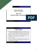 Interface PHP Ao PostgreSQL