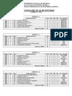 Plan de Estudios de Ingenieria Quimica