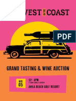 SLO Wine Country's Harvest on the Coast Live Auction Brochure & Sunday Event Listings