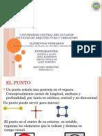 Elementos primarios punto, linea, planos