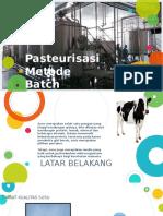 Pasteurisasi Metode Batch