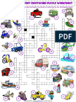 means of transport criss cross crossword puzzle vocabulary worksheet.pdf