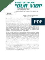 Carta de Justificacion Cholula y Puebla
