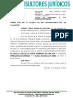 Apersonamiento Sala Penal Transitoria Lima Sur