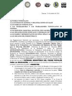 Comunicado Federaciones 25-10-2016
