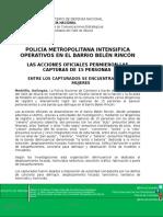 251016 Capturados 15 Delincuentes en Beleìn Rincoìn
