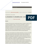 La Identidad y La Identificación - Correa Gonzáles -México