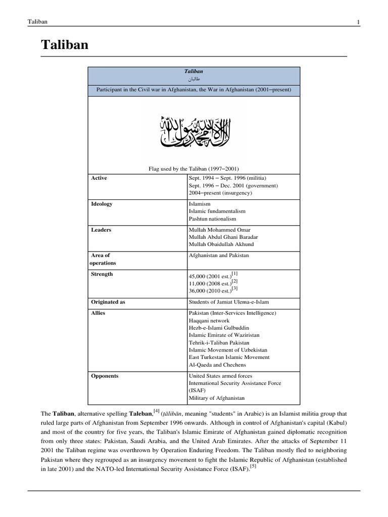 HIST3nhf-Taliban | Ahmad Shah Massoud | Taliban