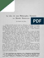 Idea de una Filosofía Perenne de Nicolai Hartmann