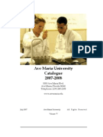 2007 2008 University Catalogue