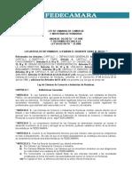 Ley de Federaciòn de Càmaras de Comercio e Industrias de Honduras