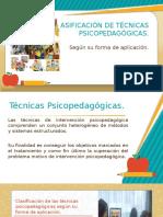 Clasificación de Técnicas Psicopedagógicas