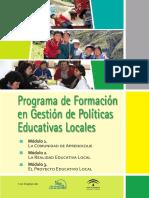 Modulo Programa de Formacion en Gestion de Politicas Educativas Locales