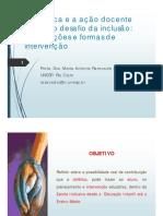 A Didatica e a Acao Do Docente Profa Dra Maria Antonia Ramos de Azevedo