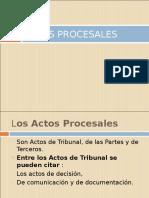 Actos Procesales