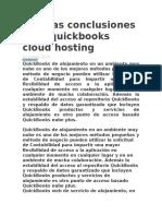 Algunas Conclusiones Para Quickbooks Cloud Hosting