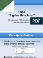UNIDAD III - Algebra Relacional