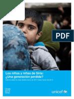 La Infancia en Paises en Guerra