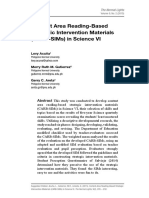 Content Area Reading-Based Strategic Intervention Materials (CARB-SIMs) in Science VI