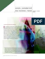 Alberto J. Olvera Rivera - Democracia y Sociedad Civil en México, Lecciones y Tareas