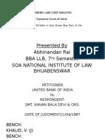 Banking Law Case Analysis