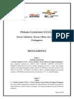 Regulamento Premio Literario Uccla 2016 17