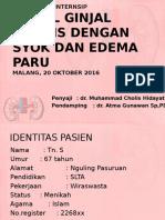 Bismillah Portofolio CKD Syok Edema Paru