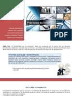 Factores Socio Económicos de Los Proyectos de Inversión 11