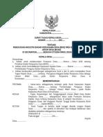 SURAT TUGAS KEPALA DESA TENTANG BKD.doc