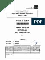 memoria de calculo de instalaciones sanitarias centro de salud chinalco