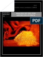 Monografia Del Analisis de Oro Por Absorcion Atomica