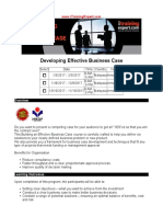 Developing Effective Business Case